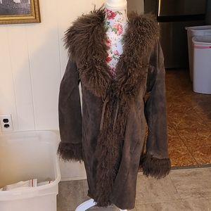 Leather/fur lined jacket